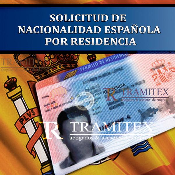 Solicitud de Nacionalidad Española por residencia